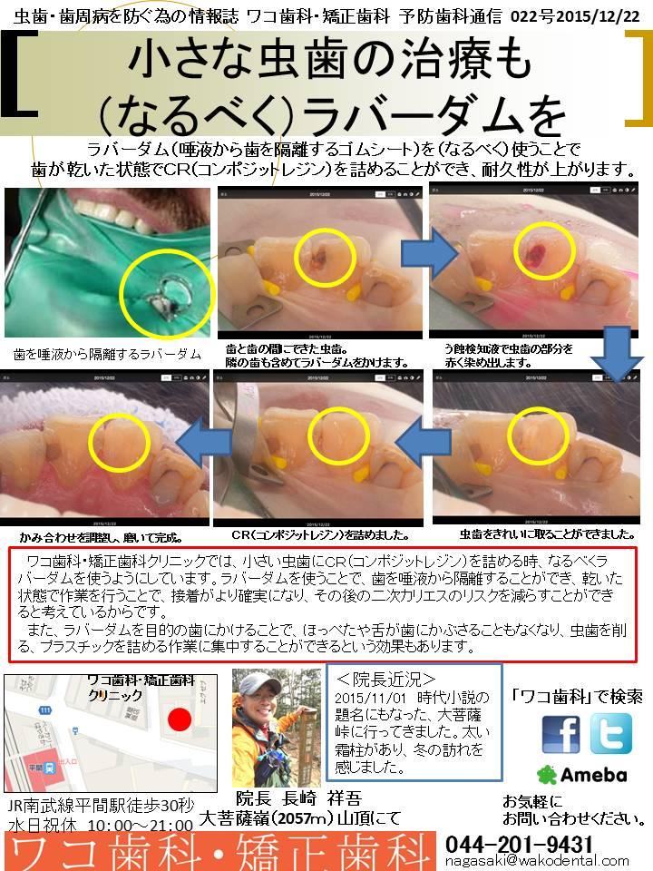 予防歯科通信22(2015年12月22日号)