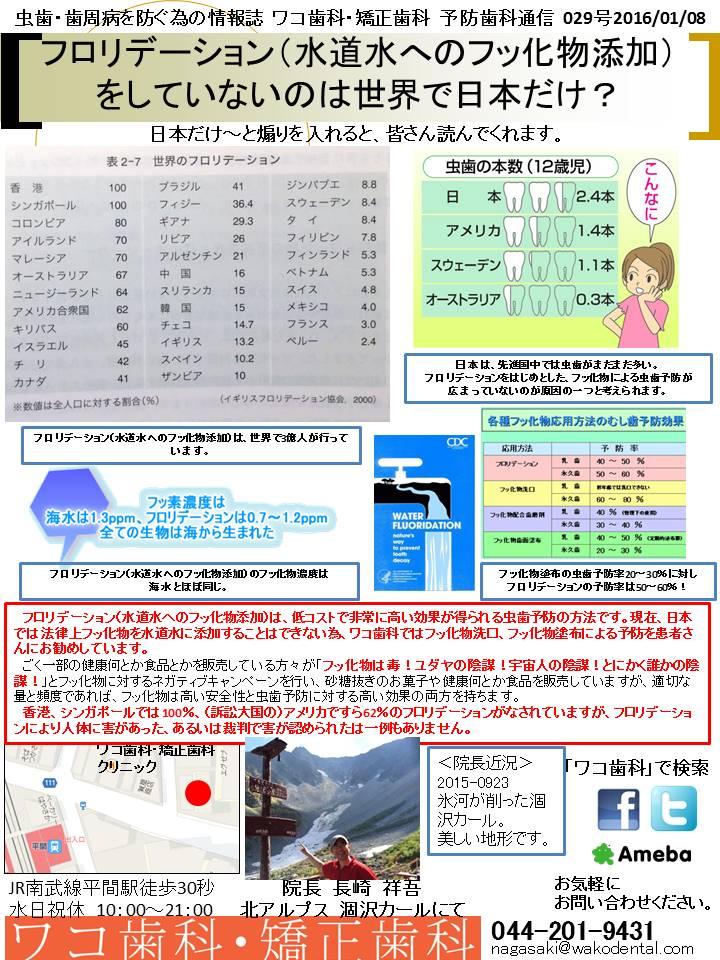 予防歯科通信24(2016年1月8日号 no1号)