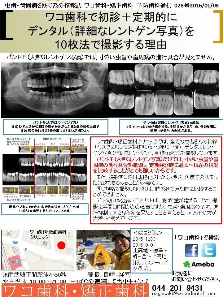 予防歯科通信29(2016年1月8日 no6号)