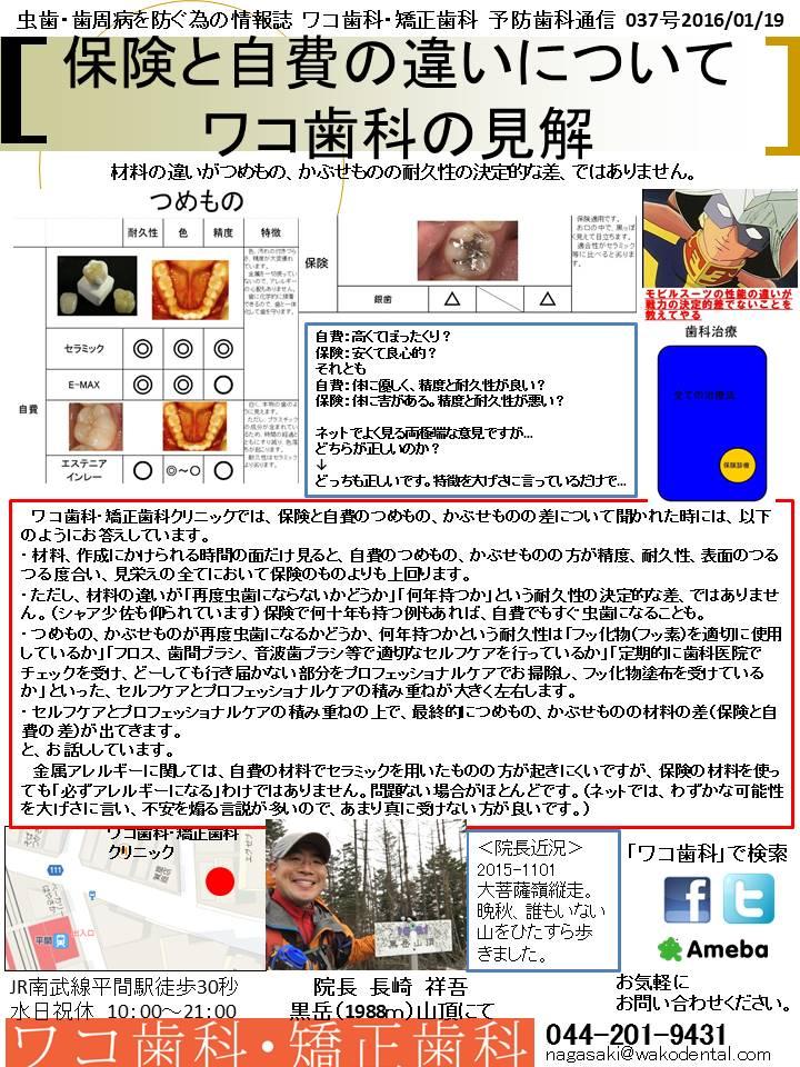 予防歯科通信32(2016年1月10日 no2号)