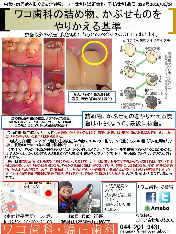 予防歯科通信35(2016年1月14日 no2号)