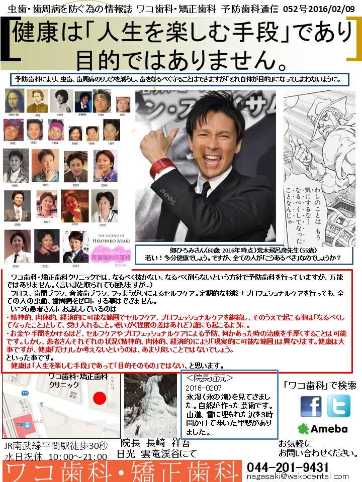 予防歯科通信56(2016年2月9日 no3号)