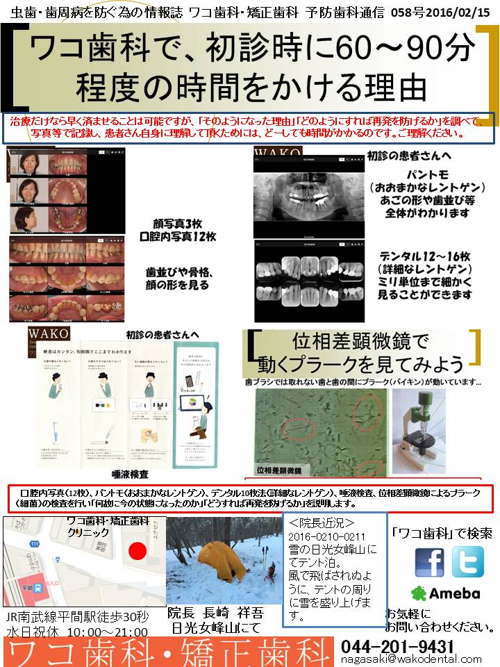 予防歯科通信61(2016年2月15日 no2号)